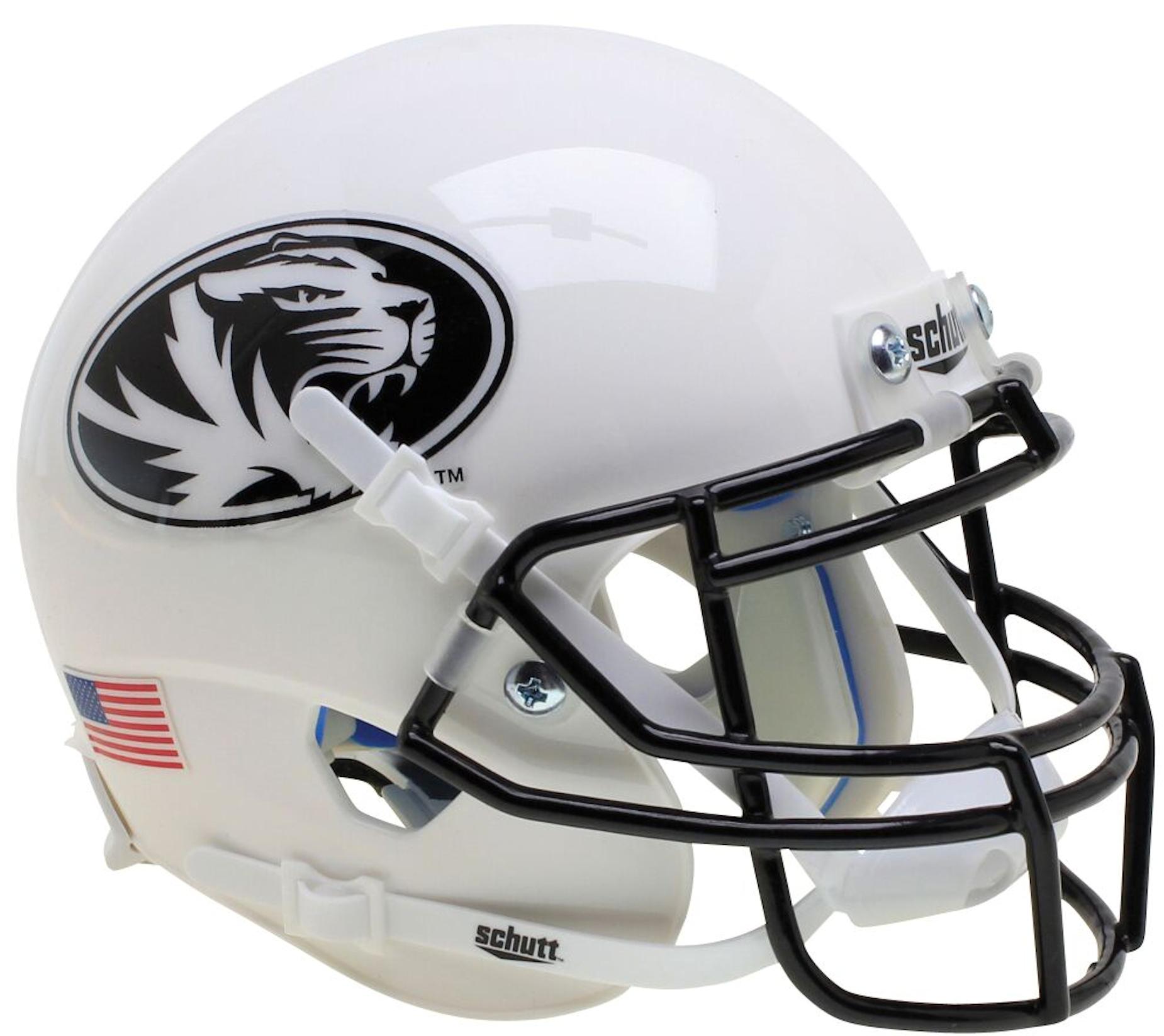 Missouri Tigers Mini XP Authentic Helmet Schutt <B>White Tiger</B>