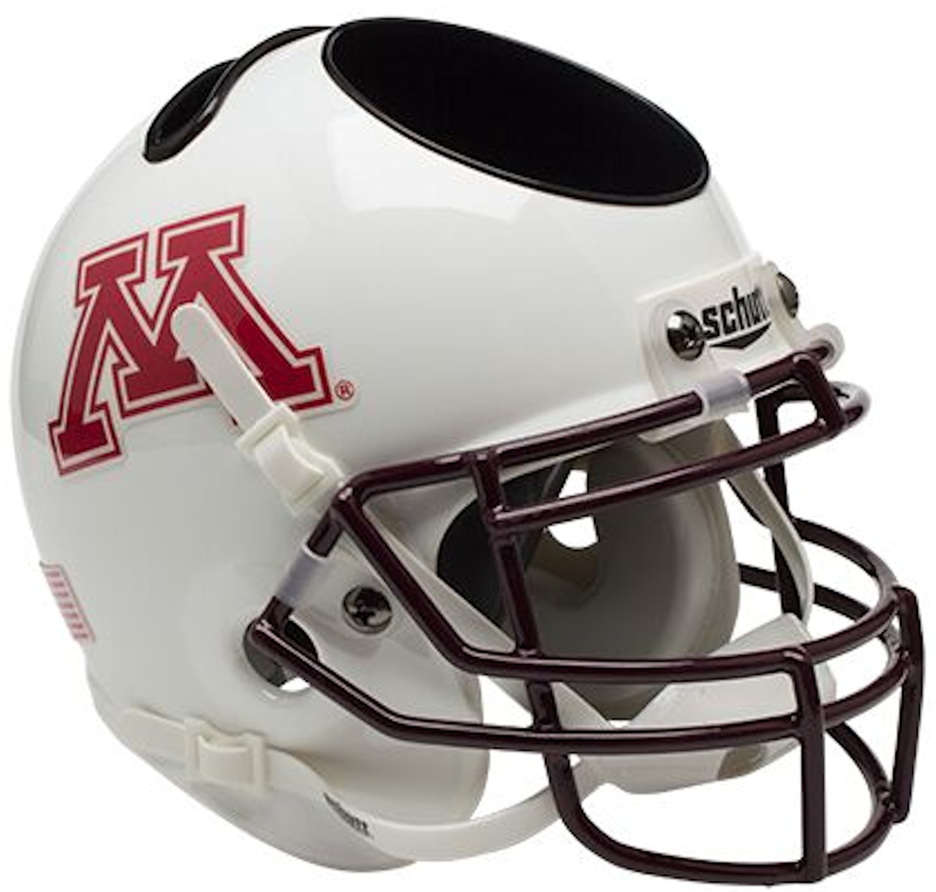 Minnesota Golden Gophers Miniature Football Helmet Desk Caddy <B>White</B>