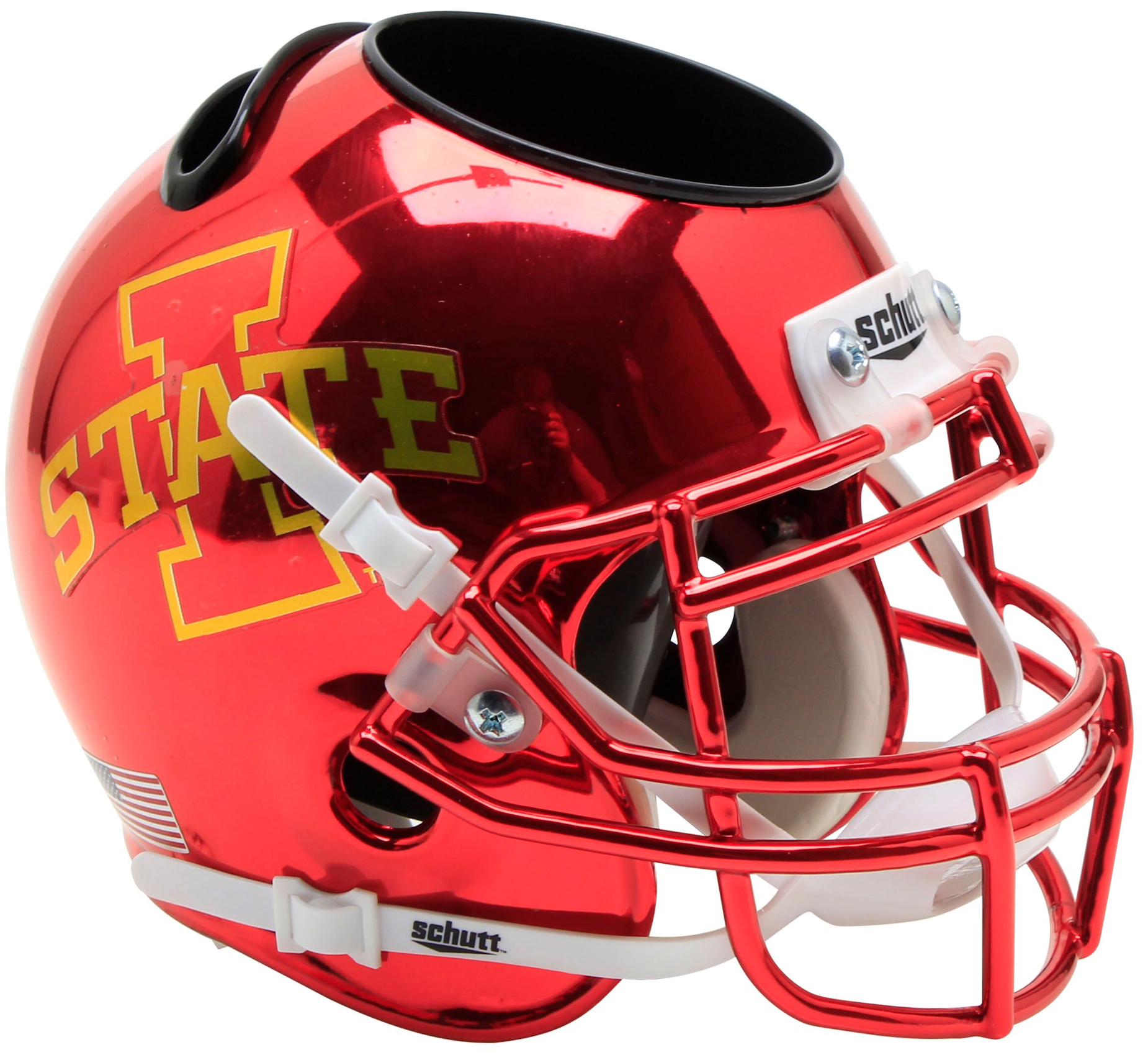 Iowa State Cyclones Miniature Football Helmet Desk Caddy <B>Chrome</B>