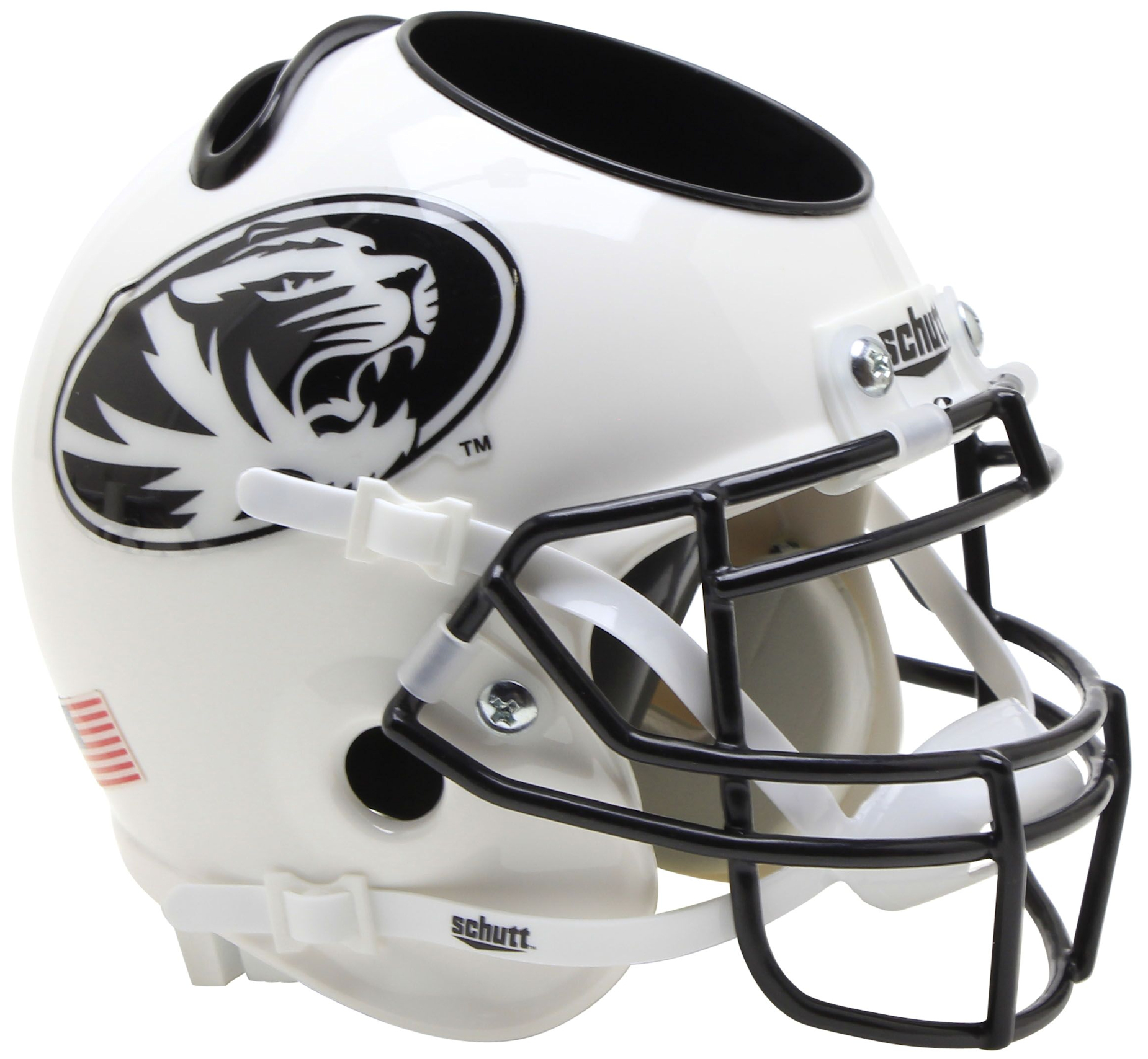 Missouri Tigers Miniature Football Helmet Desk Caddy <B>White Tiger</B>