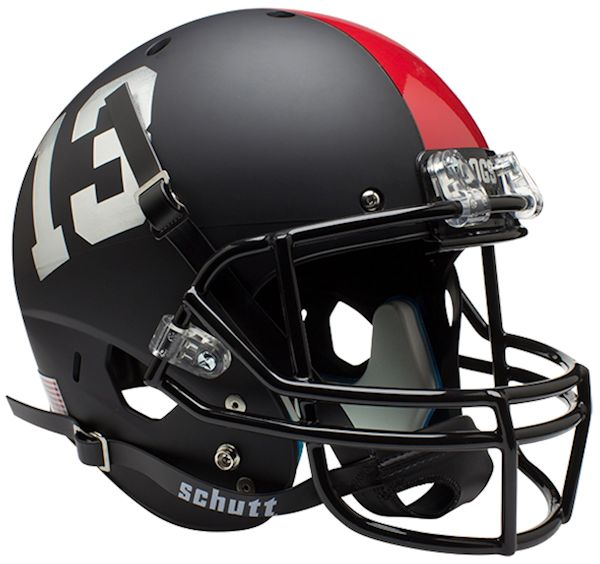 Fresno State Bulldogs Full XP Replica Football Helmet Schutt <B>Matte Black</B>