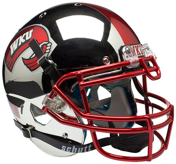 Western Kentucky Hilltoppers Authentic College XP Football Helmet Schutt <B>Chrome</B>