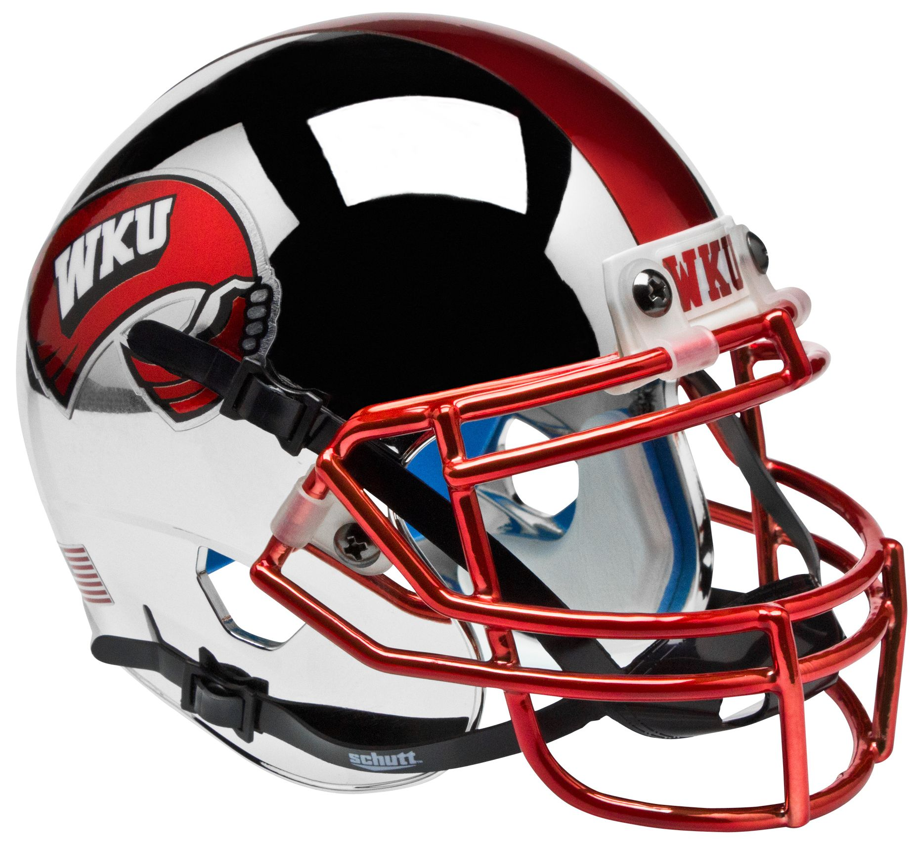 Western Kentucky Hilltoppers Mini XP Authentic Helmet Schutt <B>Chrome</B>