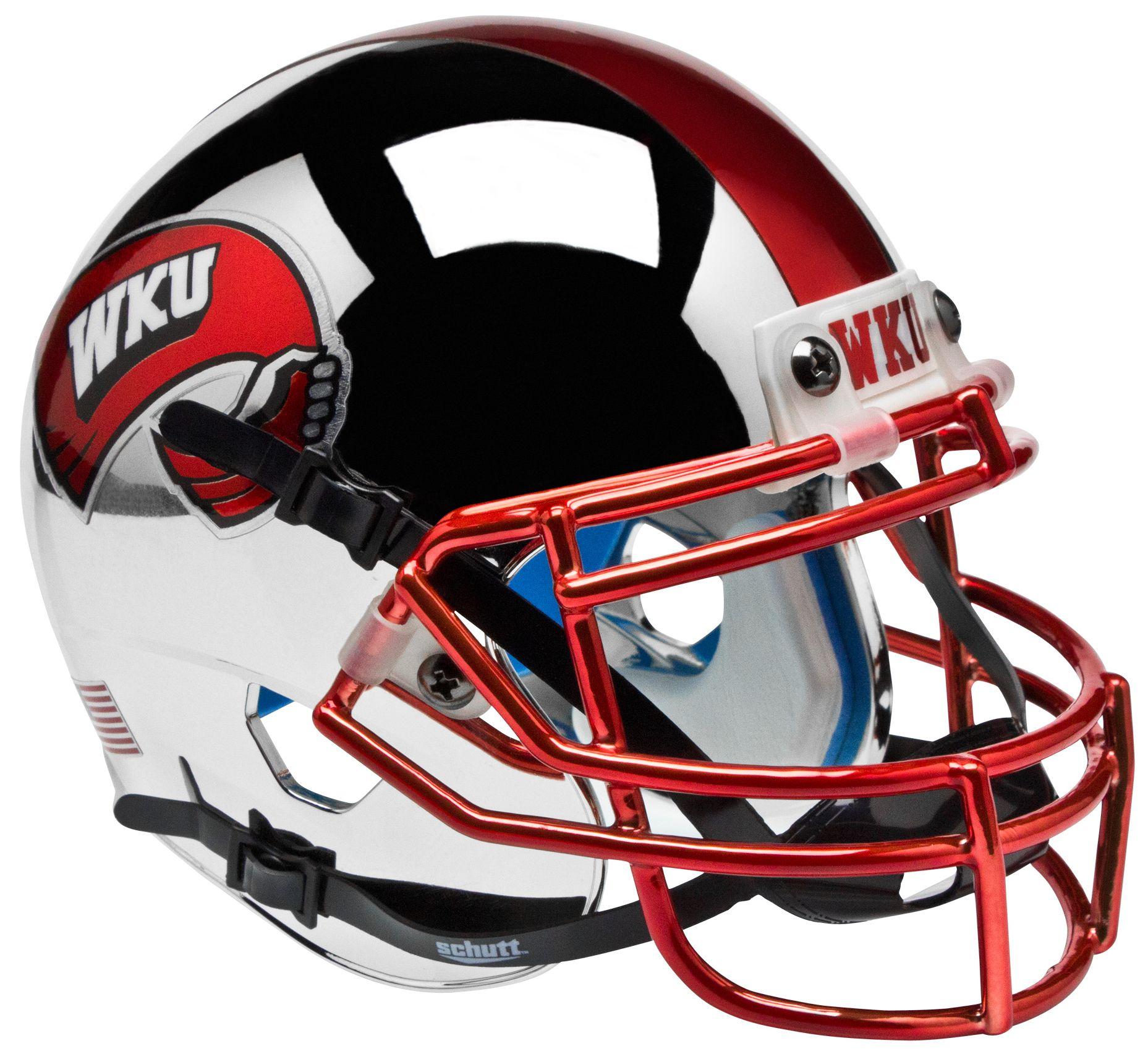 Western Kentucky Hilltoppers Mini XP Authentic Helmet Schutt <B>Chrome</B>