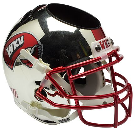 Western Kentucky Hilltoppers Miniature Football Helmet Desk Caddy <B>Chrome</B>