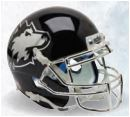 Northern Illinois Huskies Full XP Replica Football Helmet Schutt <B>Chrome Mask</B>