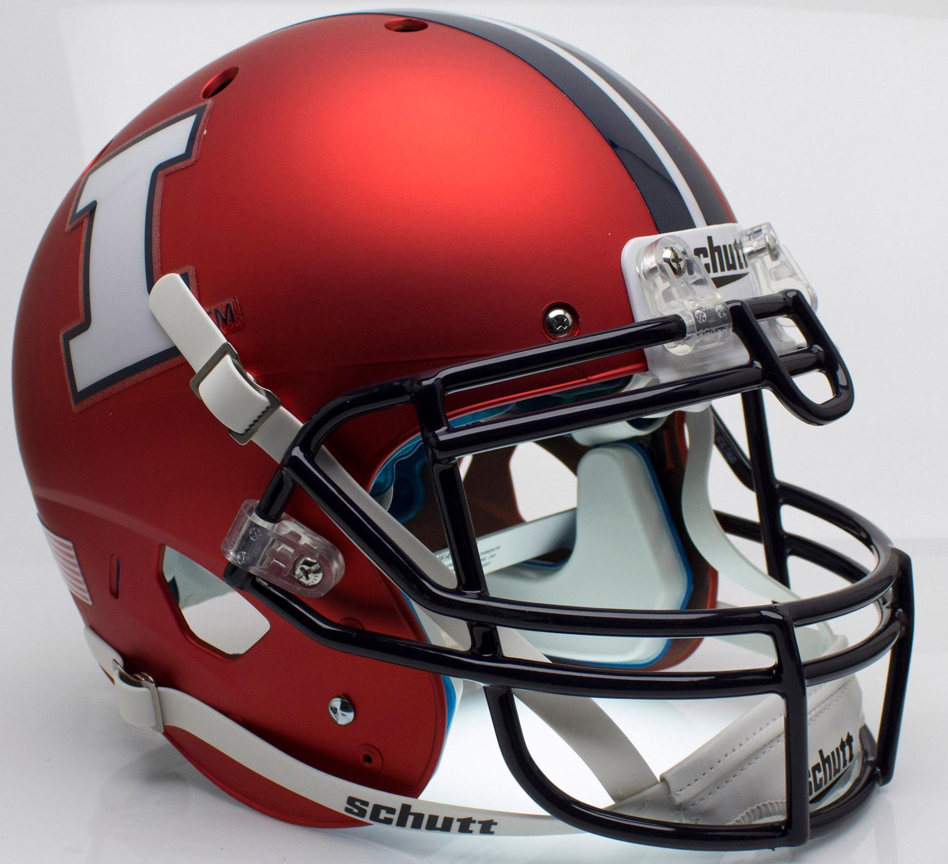 Illinois Fighting Illini Authentic College XP Football Helmet Schutt <B>Matte Orange</B>