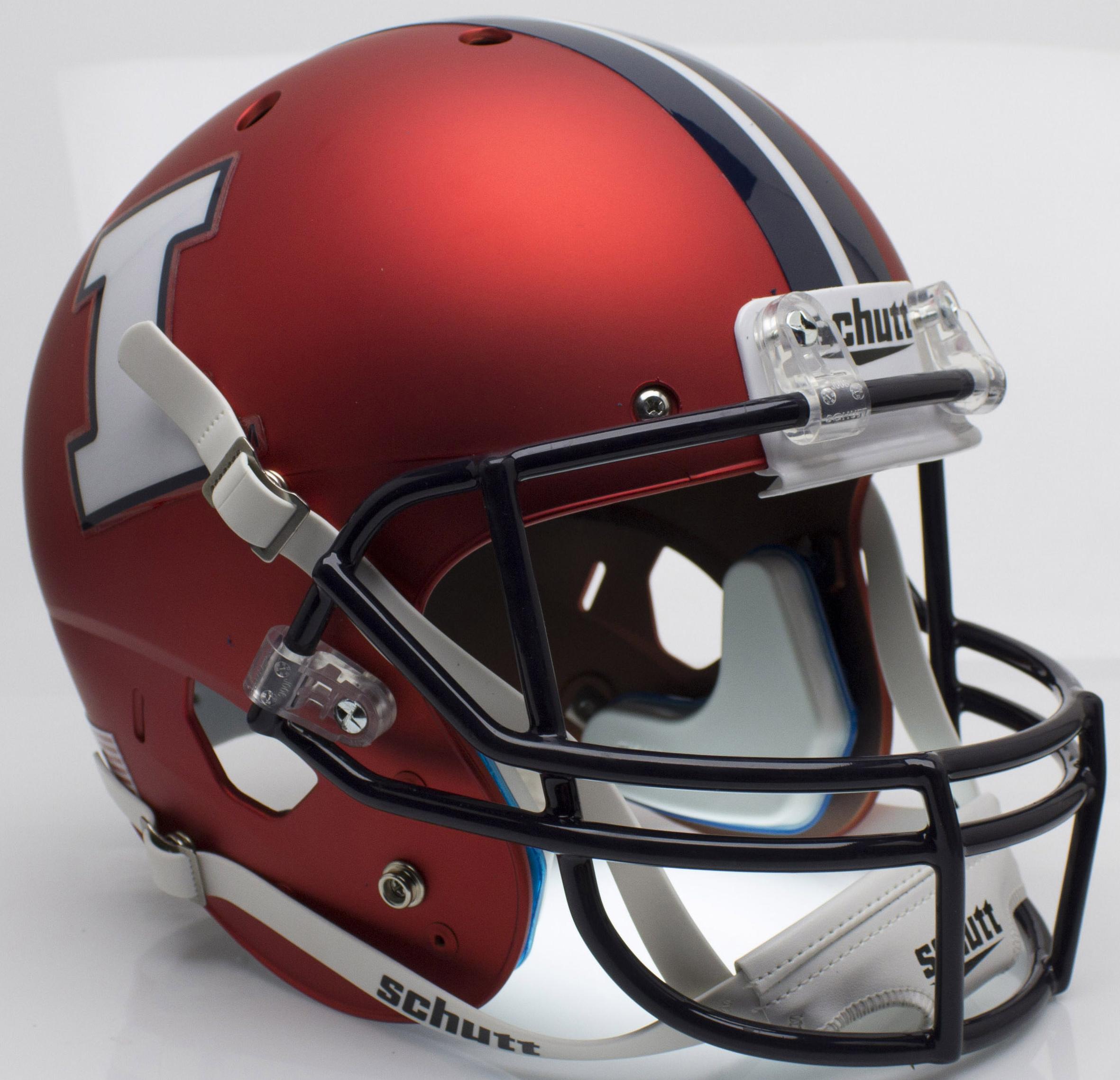 Illinois Fighting Illini Full XP Replica Football Helmet Schutt <B>Matte Orange</B>