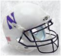 Northwestern Wildcats Full XP Replica Football Helmet Schutt <B>White</B>