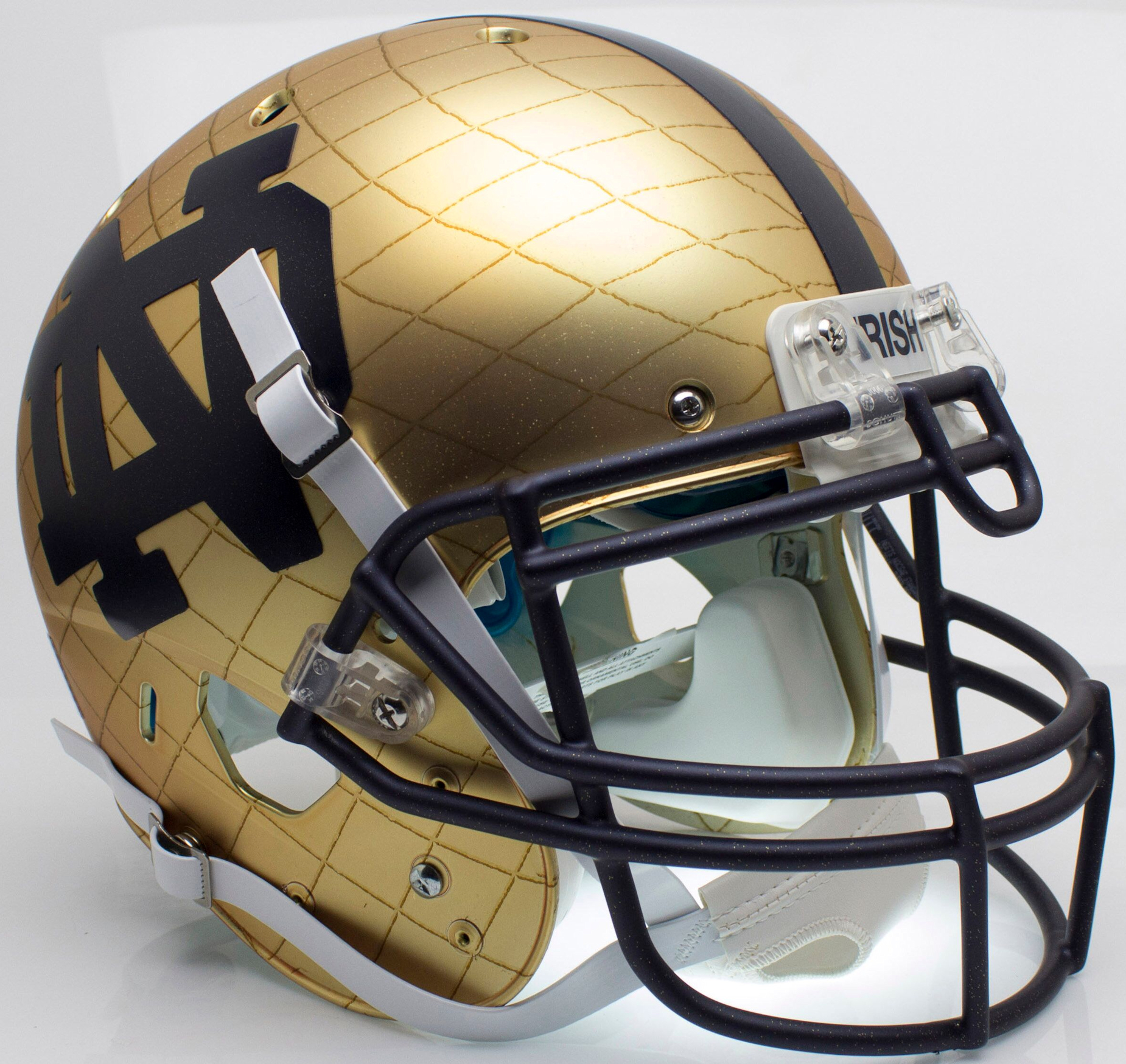 Notre Dame Fighting Irish Authentic College XP Football Helmet Schutt <B>2014 HydroSkin Indianapolis</B>