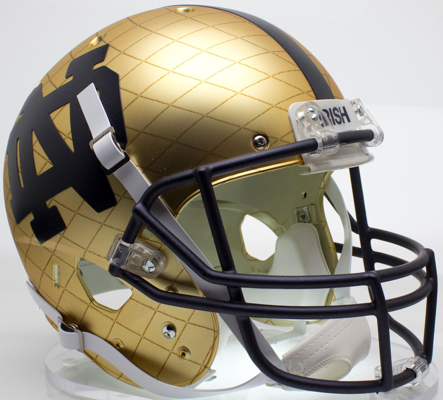 Notre Dame Fighting Irish Full XP Replica Football Helmet Schutt <B>2014 HydroSkin Indianapolis</B>
