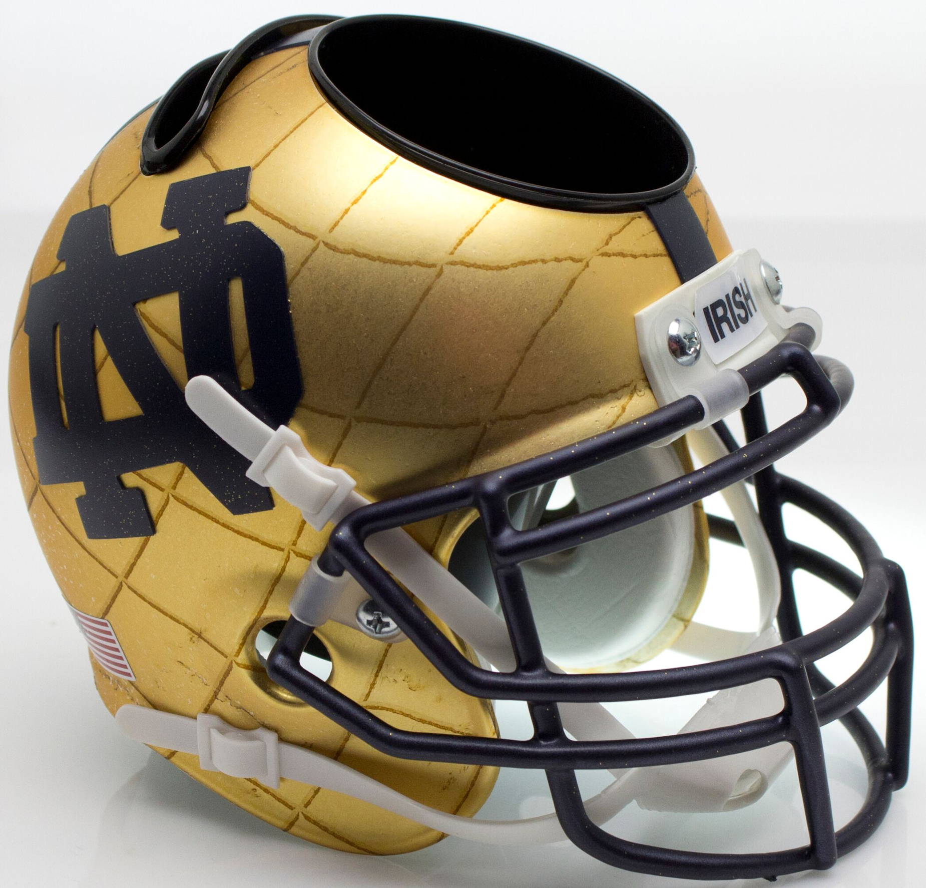 Notre Dame Fighting Irish Miniature Football Helmet Desk Caddy <B>2014 HydroSkin Indianapolis</B>