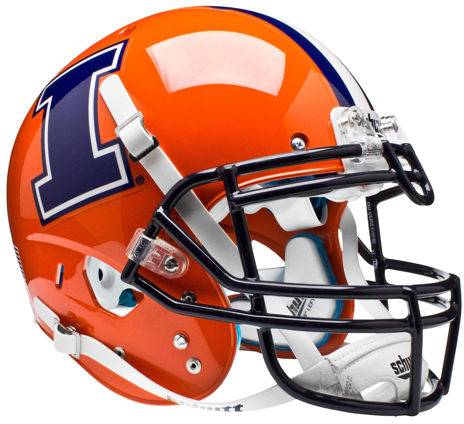 Illinois Fighting Illini Authentic College XP Football Helmet Schutt <B>I</B>
