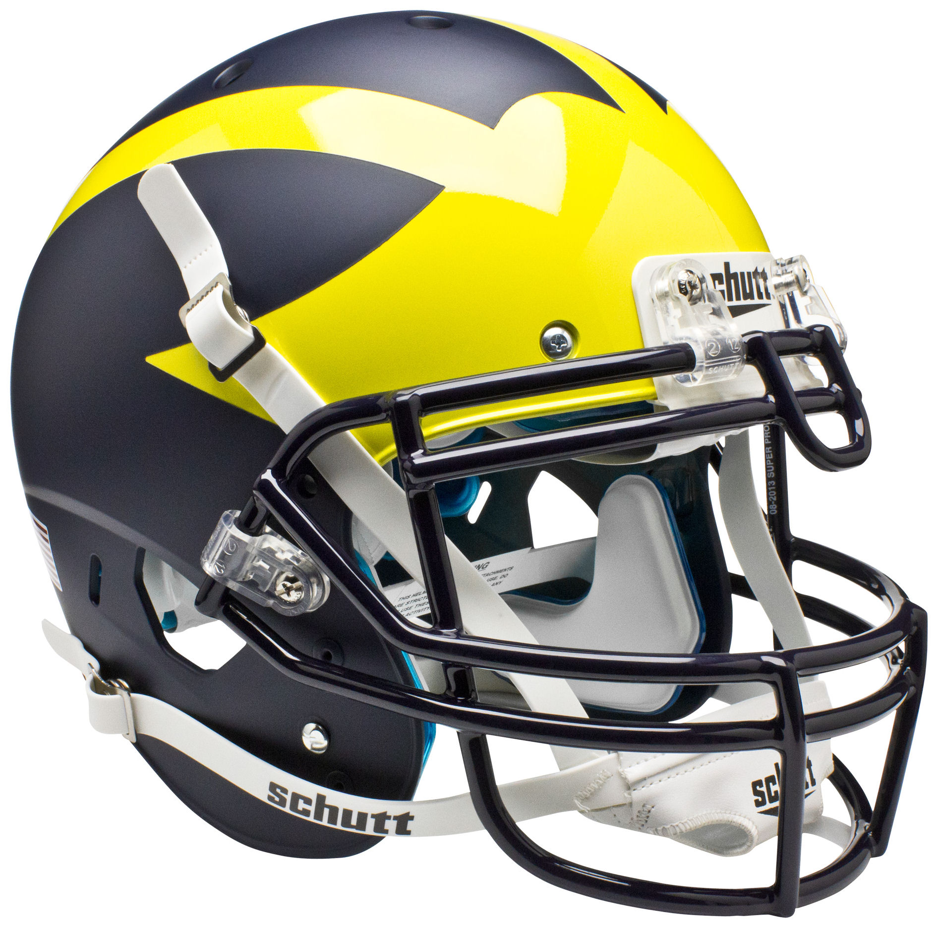 Michigan Wolverines Authentic College XP Football Helmet Schutt <B>Matte Blue</B>
