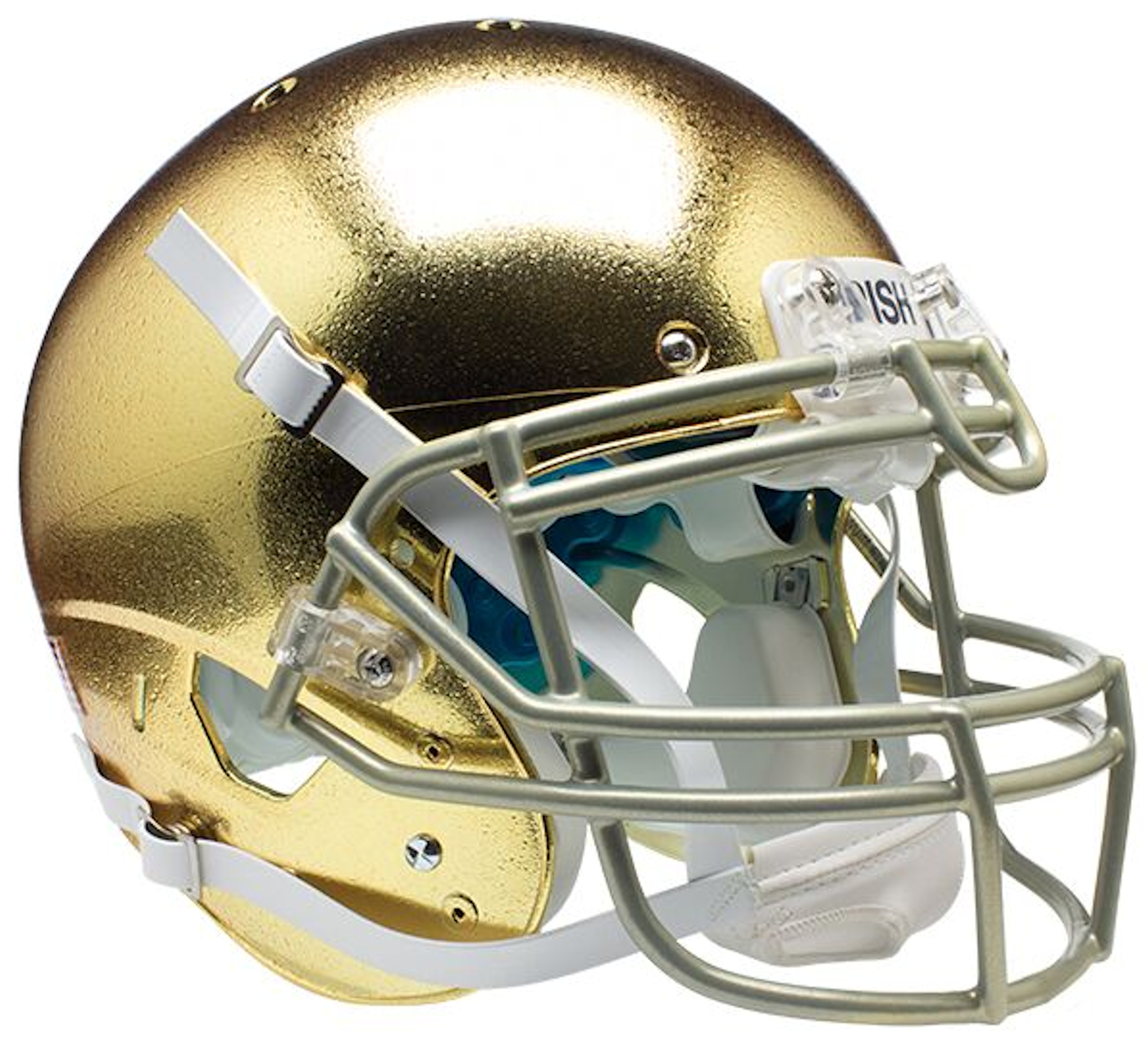Notre Dame Fighting Irish Authentic College XP Football Helmet Schutt <B>Textured with Metallic Mask</B>