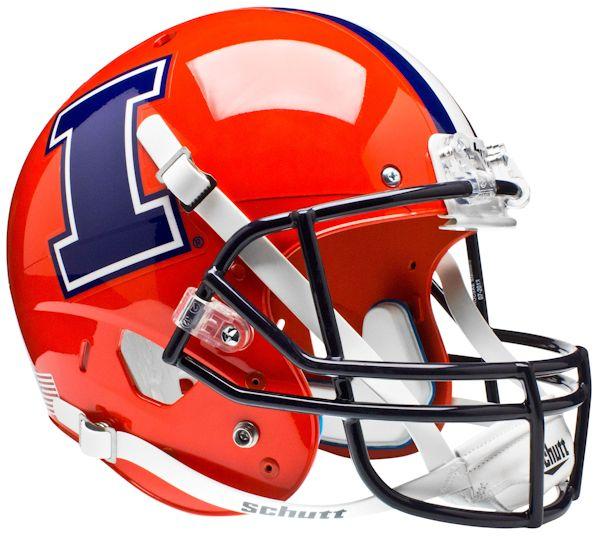 Illinois Fighting Illini Full XP Replica Football Helmet Schutt <B>I</B>