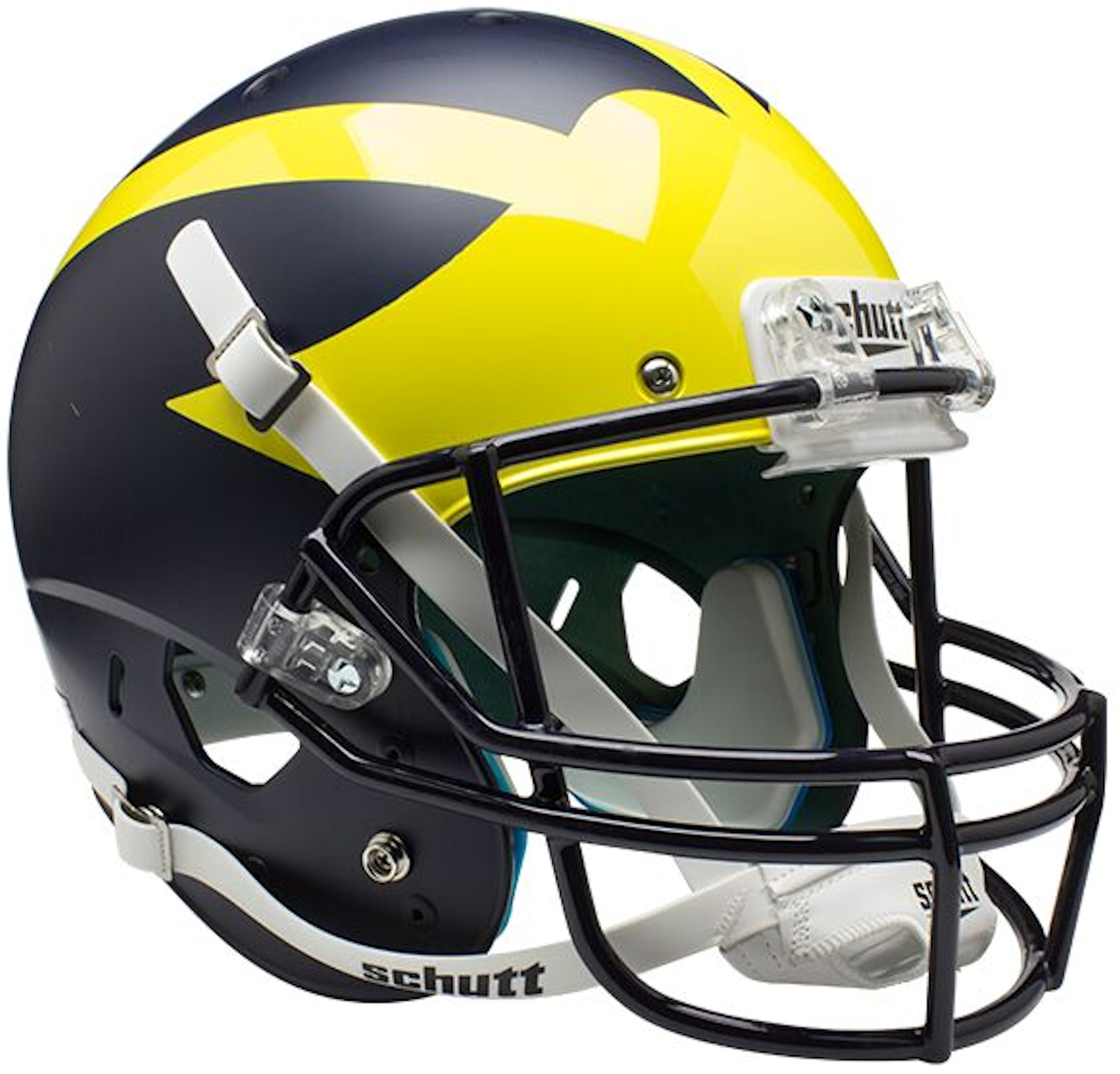 Michigan Wolverines Full XP Replica Football Helmet Schutt <B>Matte Blue</B>