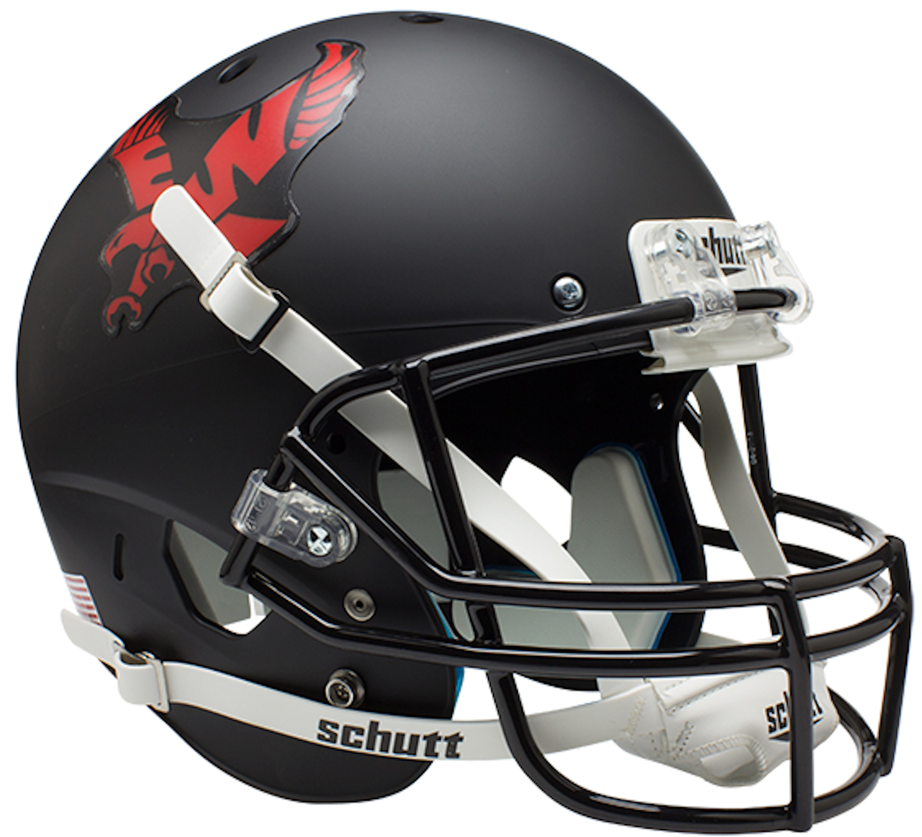 Eastern Washington Eagles Full XP Replica Football Helmet Schutt <B>Matte Black</B>