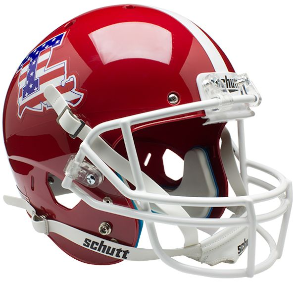Louisiana Tech Bulldogs Full XP Replica Football Helmet Schutt <B>Flag</B>