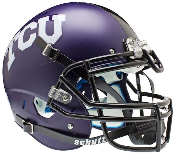 TCU Horned Frogs Authentic College XP Football Helmet Schutt <B>Matte</B>