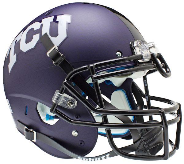 TCU Horned Frogs Authentic College XP Football Helmet Schutt <B>Purple Crosshatch</B>