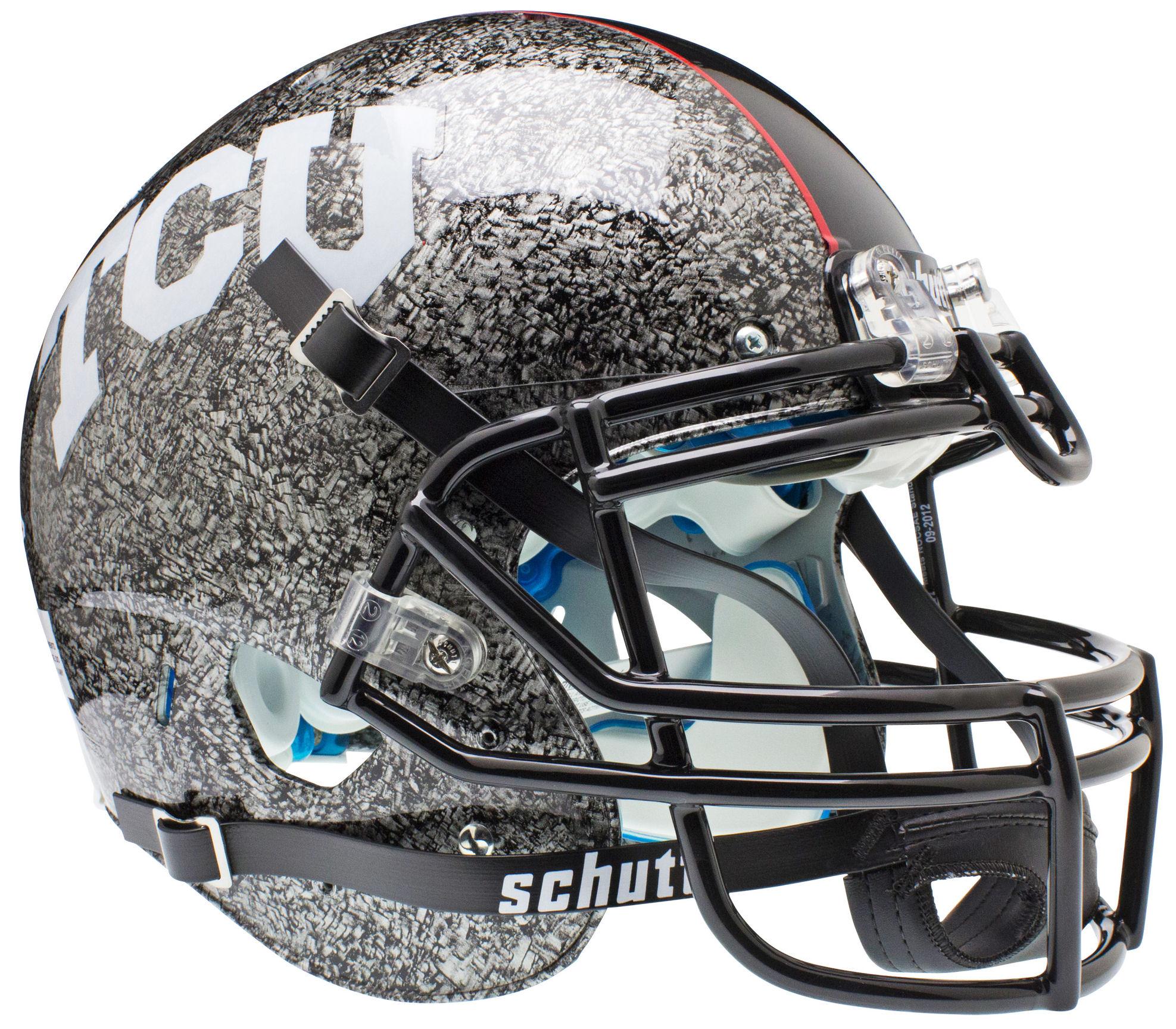 TCU Horned Frogs Authentic College XP Football Helmet Schutt <B>Slate</B>