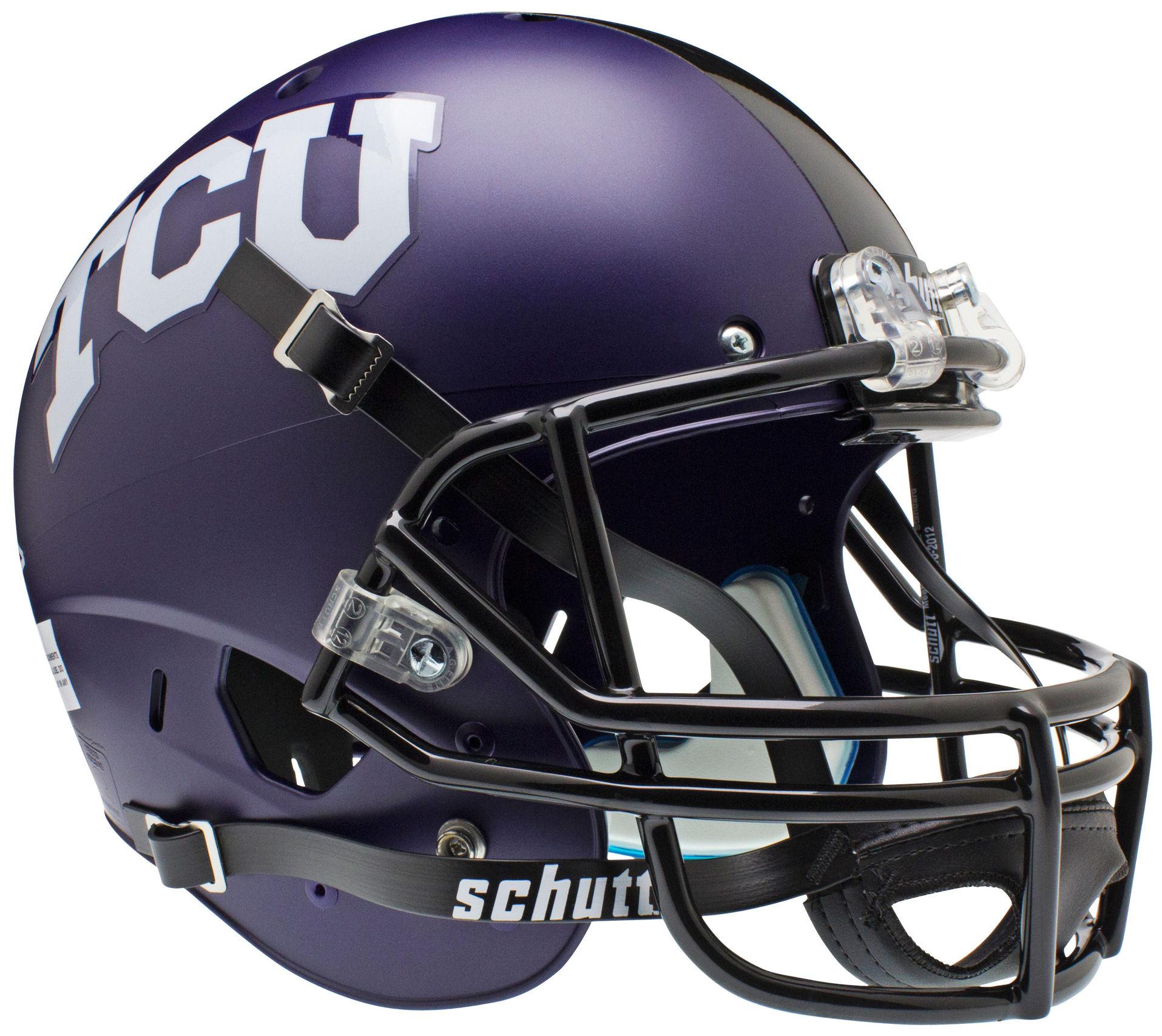 TCU Horned Frogs Full XP Replica Football Helmet Schutt <B>Matte</B>