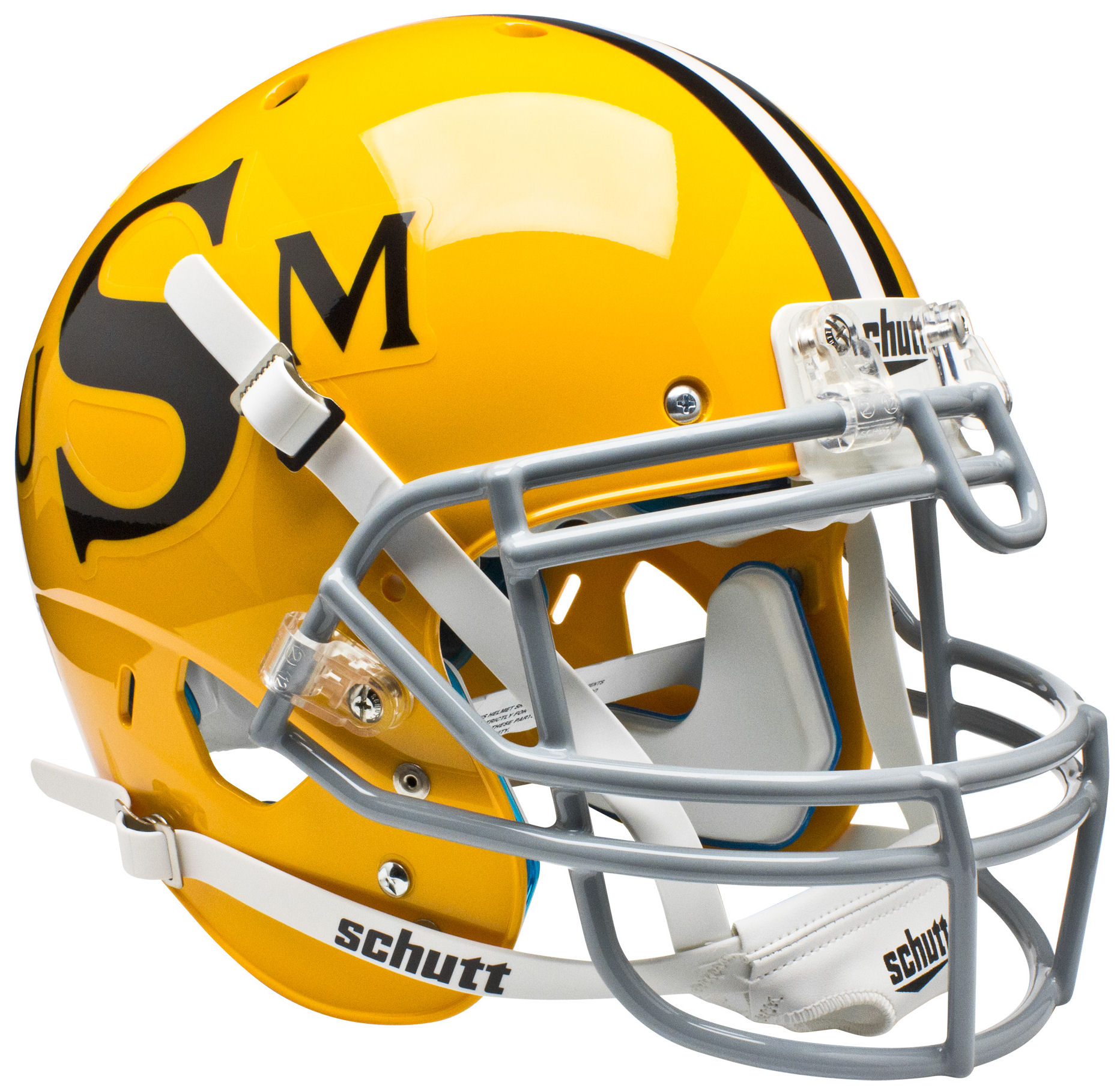 Southern Mississippi Golden Eagles Authentic College XP Football Helmet Schutt <B>Gold</B>