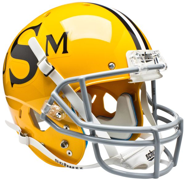 Southern Mississippi Golden Eagles Full XP Replica Football Helmet Schutt <B>Gold</B>