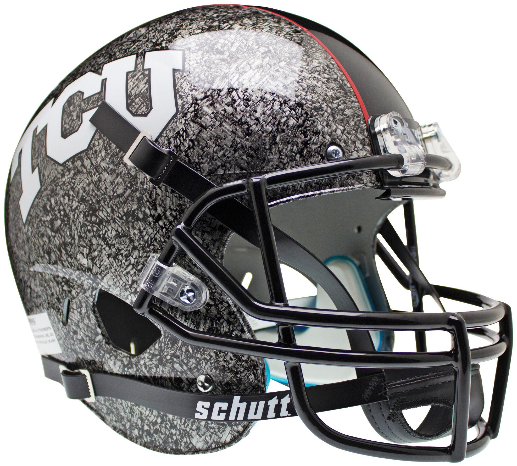 TCU Horned Frogs Full XP Replica Football Helmet Schutt <B>Slate</B>