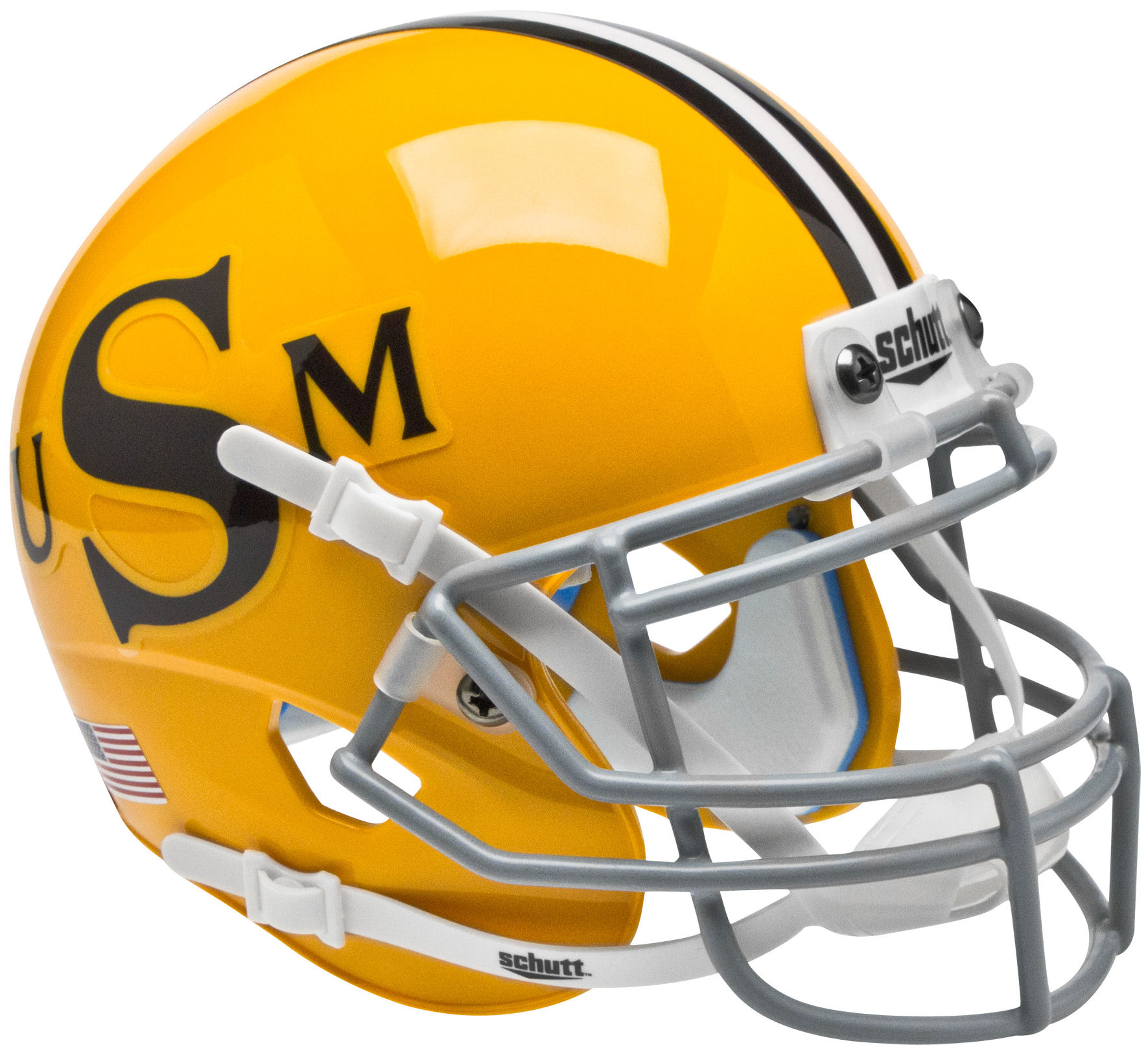 Southern Mississippi Golden Eagles Mini XP Authentic Helmet Schutt <B>Gold</B>