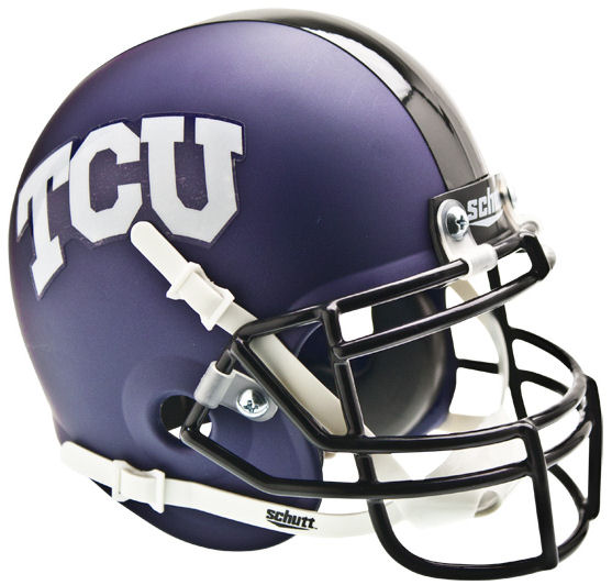 TCU Horned Frogs Mini XP Authentic Helmet Schutt <B>Matte</B>