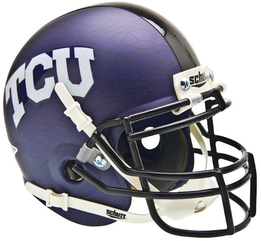 TCU Horned Frogs Mini XP Authentic Helmet Schutt <B>Purple Crosshatch</B>