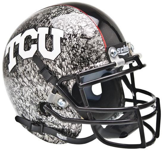 TCU Horned Frogs Mini XP Authentic Helmet Schutt <B>Slate</B>