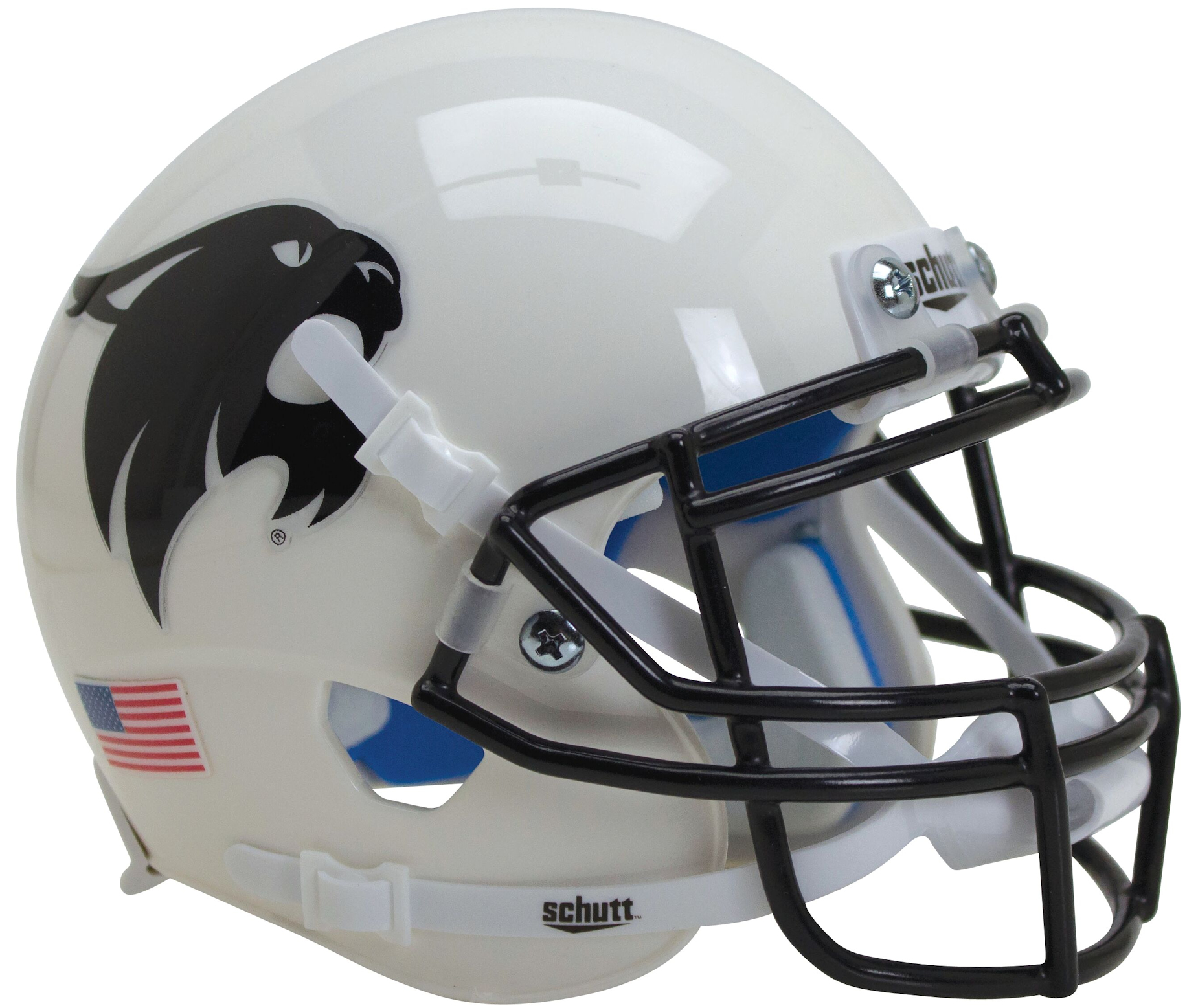Texas State Bobcats Authentic College XP Football Helmet Schutt <B>White w/Black Bobcat</B>