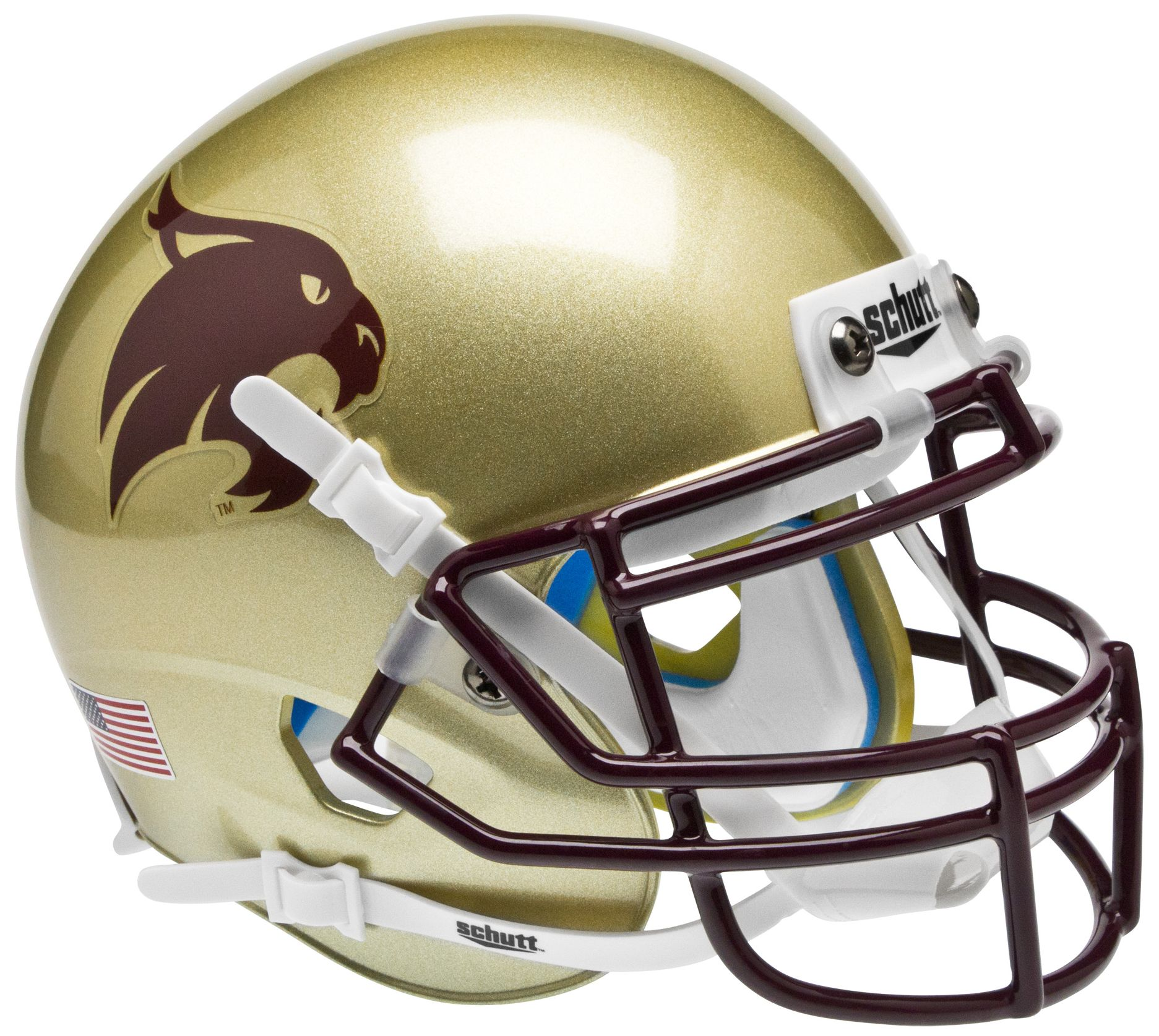 Texas State Bobcats Mini XP Authentic Helmet Schutt