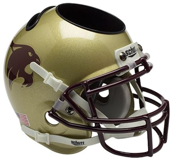 Texas State Bobcats Miniature Football Helmet Desk Caddy