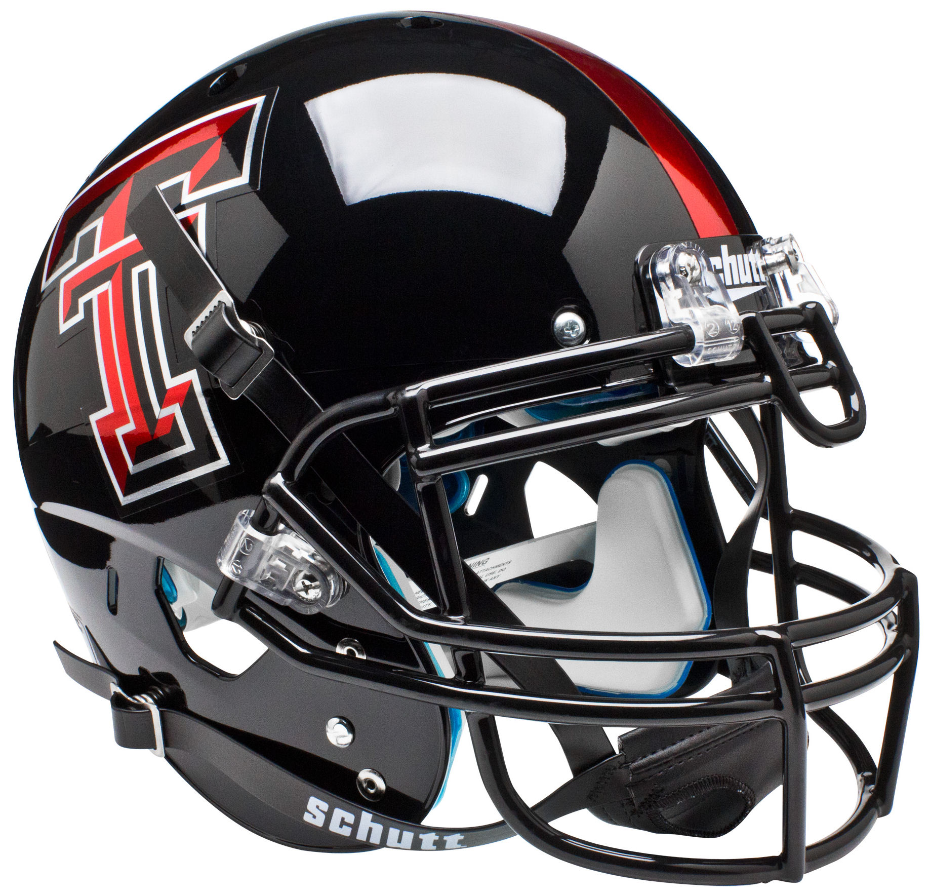 Texas Tech Red Raiders Authentic College XP Football Helmet Schutt <B>Chrome Logo</B>