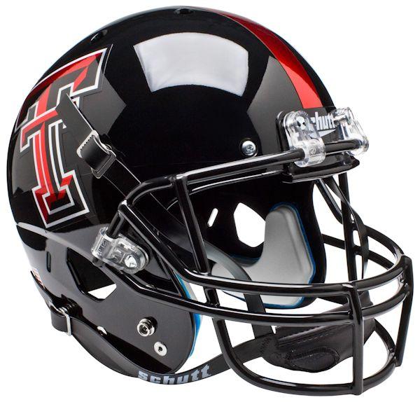 Texas Tech Red Raiders Full XP Replica Football Helmet Schutt <B>Chrome Logo</B>