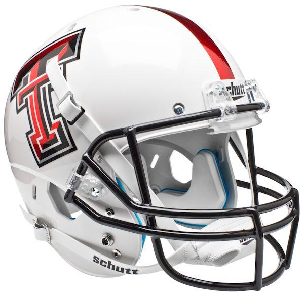 Texas Tech Red Raiders Full XP Replica Football Helmet Schutt <B>Whte Alt 5</B>