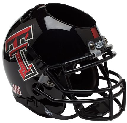 Texas Tech Red Raiders Miniature Football Helmet Desk Caddy <B>Chrome Logo</B>