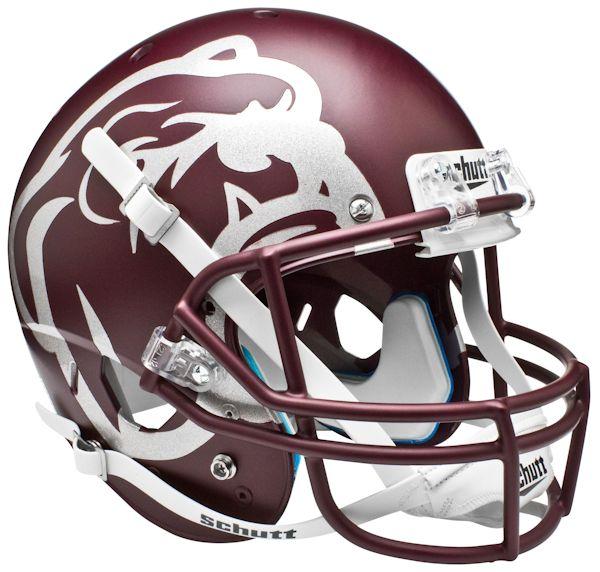 Mississippi State Bulldogs Full XP Replica Football Helmet Schutt <B>Maroon</B>