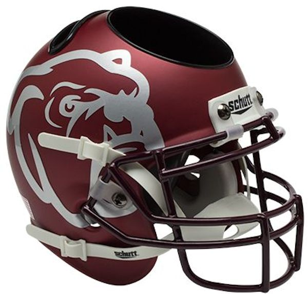 Mississippi State Bulldogs Miniature Football Helmet Desk Caddy <B>Maroon</B>