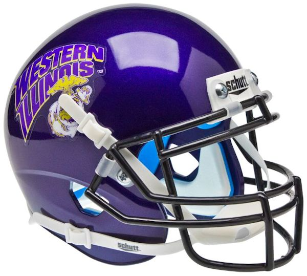 Western Illinois Leathernecks Mini XP Authentic Helmet Schutt <B>Marines</B>