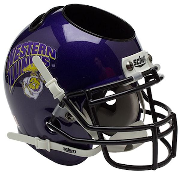 Western Illinois Leathernecks Miniature Football Helmet Desk Caddy <B>Marines</B>