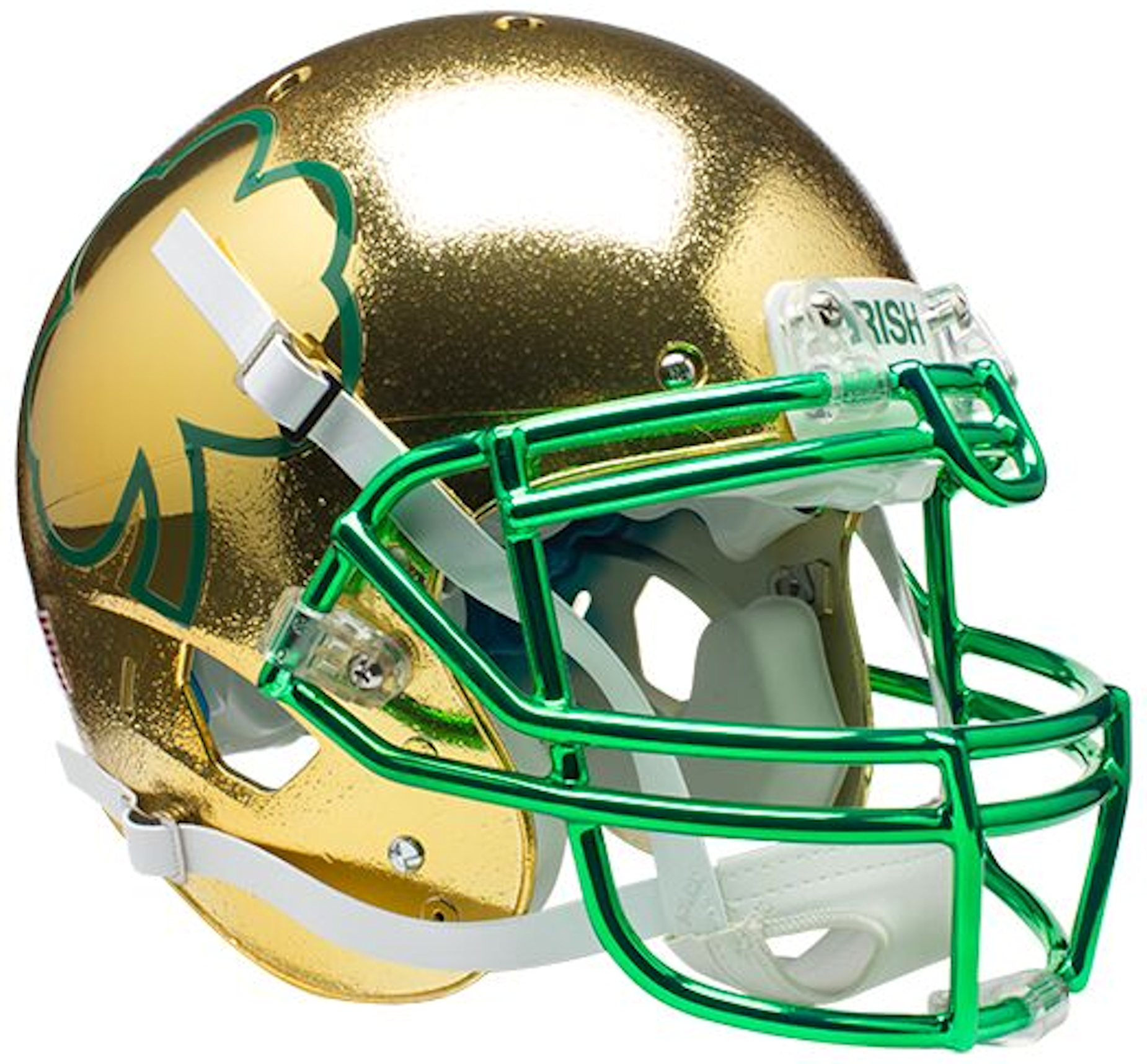 Notre Dame Fighting Irish Authentic College XP Football Helmet Schutt <B>Textured with Shamrock</B>