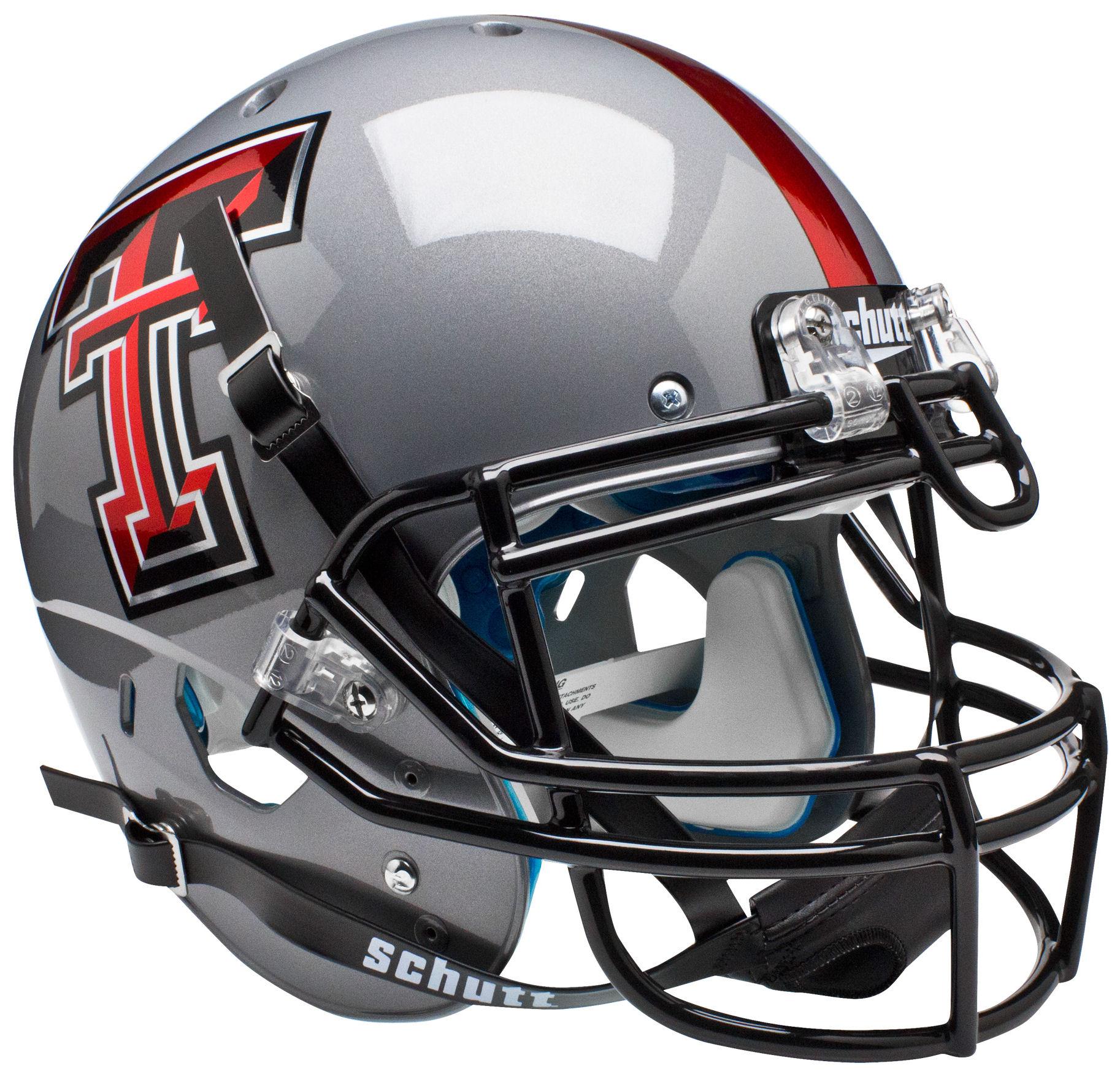 Texas Tech Red Raiders Authentic College XP Football Helmet Schutt <B>Gray</B>