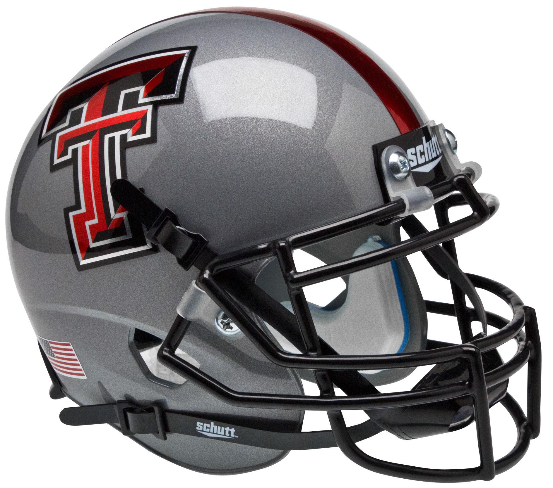 Texas Tech Red Raiders Mini XP Authentic Helmet Schutt <B>Gray</B>