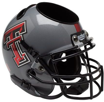 Texas Tech Red Raiders Miniature Football Helmet Desk Caddy <B>Gray</B>