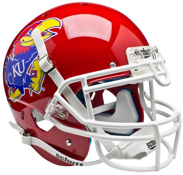 Kansas Jayhawks Authentic College XP Football Helmet Schutt <B>Scarlet Red</B>